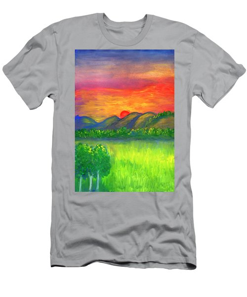 Mystical Red Sunset Men's T-Shirt (Athletic Fit)
