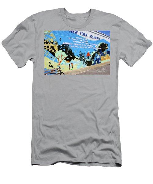 New York Aquarium, Coney Island, Brooklyn, New York Men's T-Shirt (Athletic Fit)