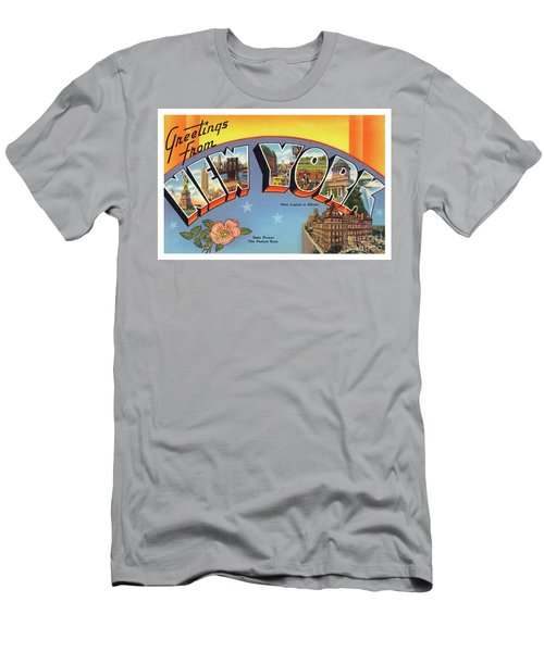 Men's T-Shirt (Athletic Fit) featuring the photograph New York Greetings - Version 4 by Mark Miller
