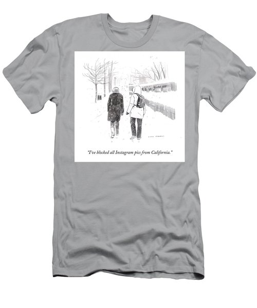 New York Snowstorm Men's T-Shirt (Athletic Fit)