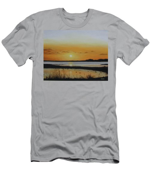 Men's T-Shirt (Athletic Fit) featuring the painting Newfoundland Sunset by Tammy Taylor