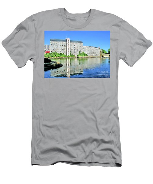Men's T-Shirt (Athletic Fit) featuring the photograph Newmarket New Hampshire by Debbie Stahre