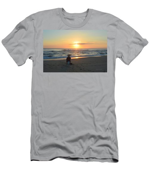 Men's T-Shirt (Athletic Fit) featuring the photograph November 3, 2018 Fisherman by Barbara Ann Bell