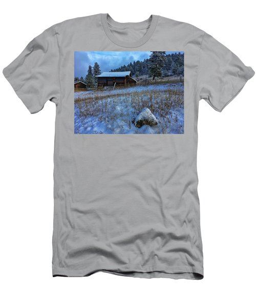Men's T-Shirt (Athletic Fit) featuring the photograph November Cabin by Dan Miller