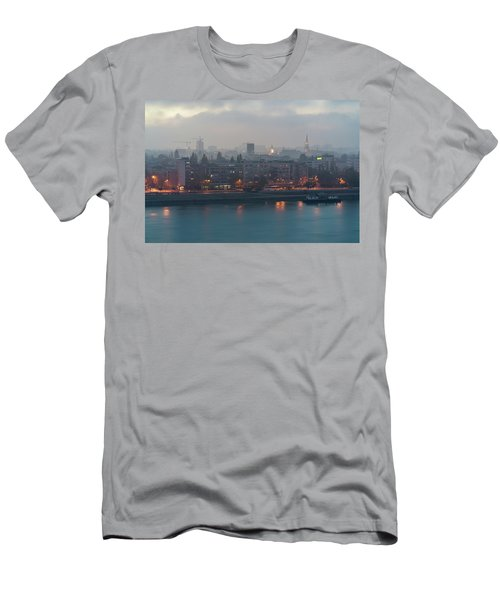 Novi Sad Night Cityscape Men's T-Shirt (Athletic Fit)