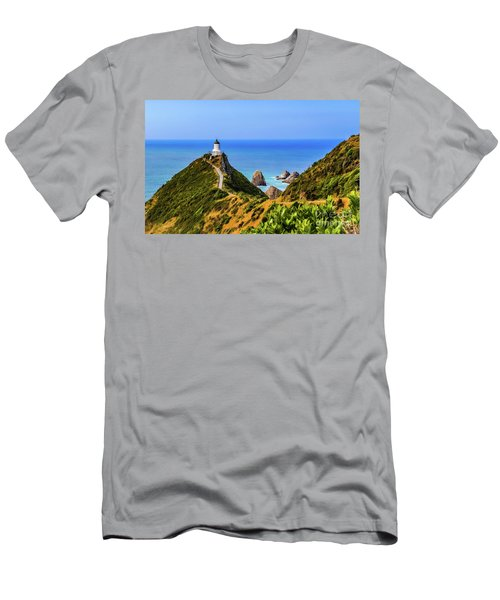 Nugget Point Lighthouse, New Zealand Men's T-Shirt (Athletic Fit)
