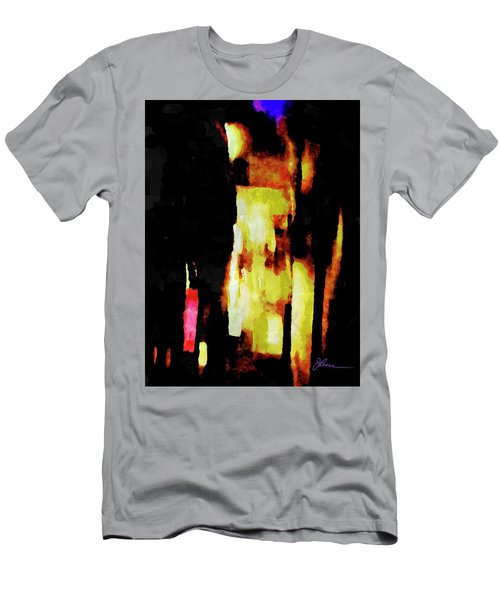 Men's T-Shirt (Athletic Fit) featuring the painting Ny Verve 2 by Joan Reese