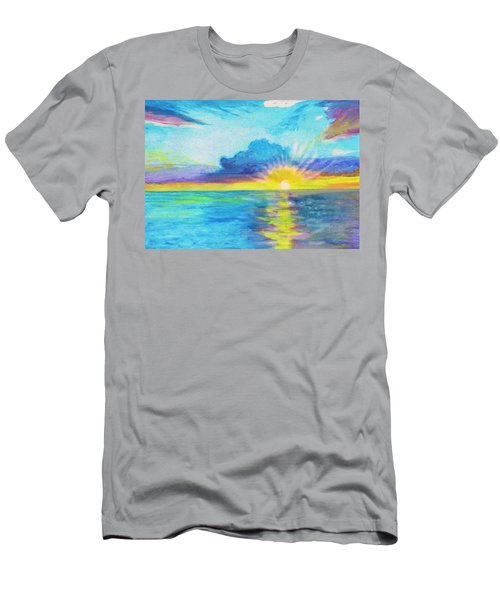 Ocean In The Morning Men's T-Shirt (Athletic Fit)