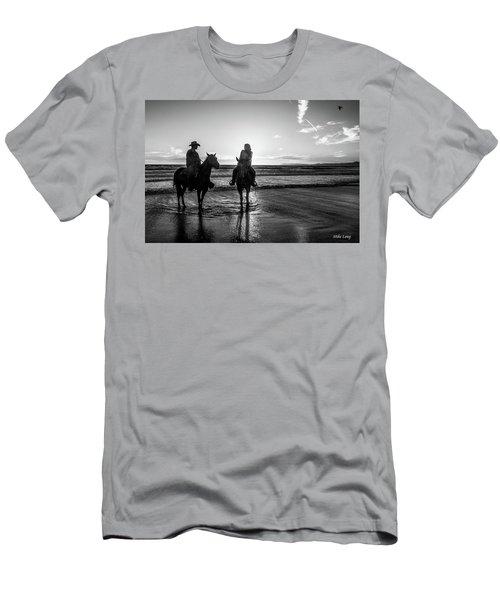 Ocean Sunset On Horseback Men's T-Shirt (Athletic Fit)