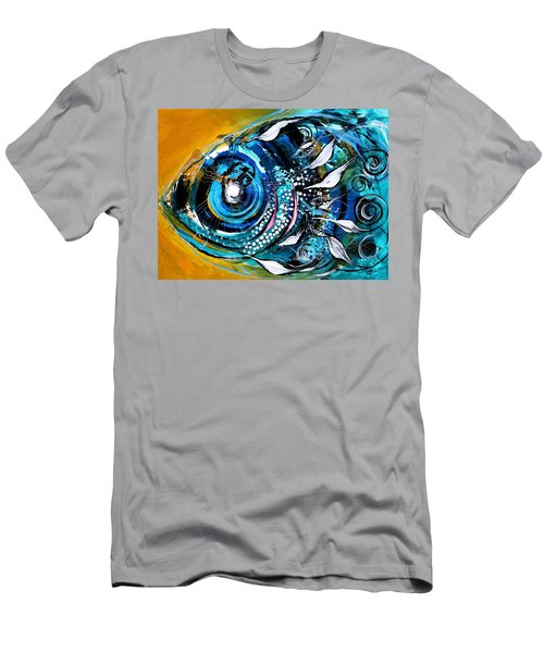 Ochre Fish Four Men's T-Shirt (Athletic Fit)
