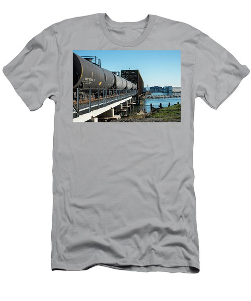 Oil Train Over Swinomish Channel Men's T-Shirt (Athletic Fit)