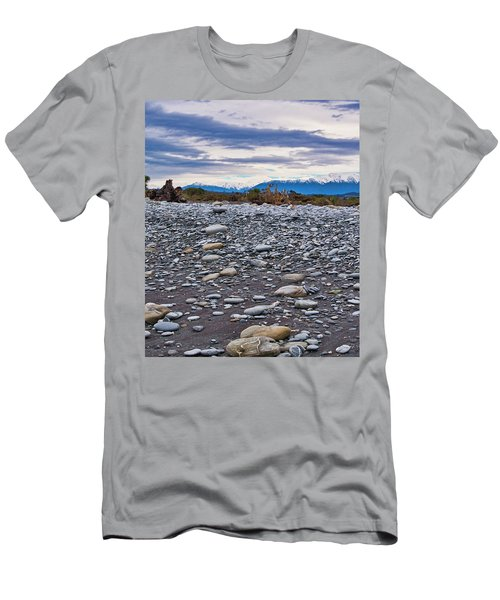 Okarito Beach And Nz Alps Men's T-Shirt (Athletic Fit)