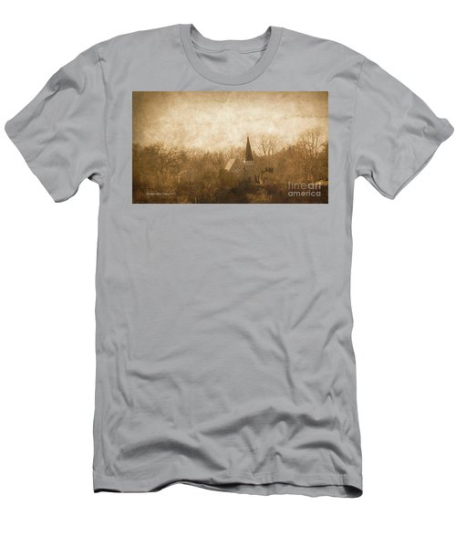 Old Church On A Hill  Men's T-Shirt (Athletic Fit)