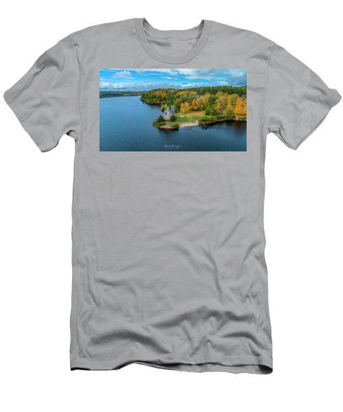 Men's T-Shirt (Athletic Fit) featuring the photograph Old Stone Church by Michael Hughes