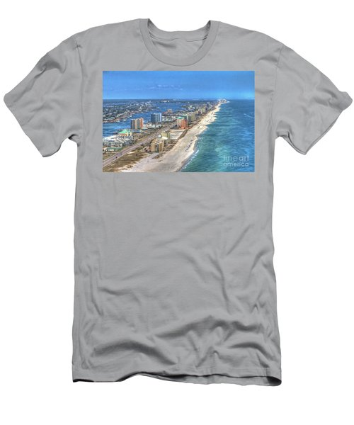 Men's T-Shirt (Athletic Fit) featuring the photograph Orange Beach East by Gulf Coast Aerials -