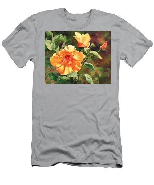 Orange Hibiscus Men's T-Shirt (Athletic Fit)
