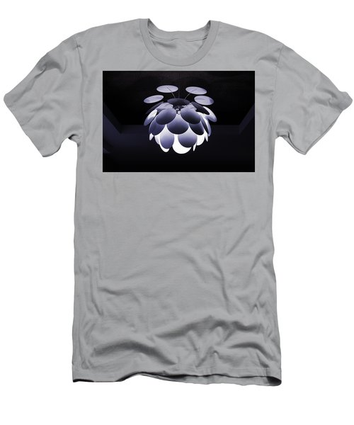 Men's T-Shirt (Athletic Fit) featuring the photograph Ornamental Ceiling Light Fixture - Blue by Debi Dalio