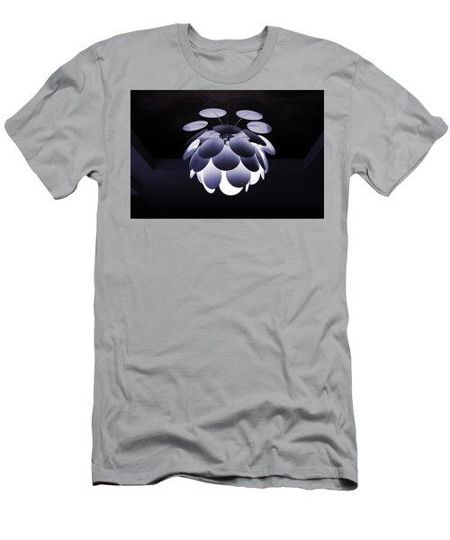 Ornamental Ceiling Light Fixture - Blue Men's T-Shirt (Athletic Fit)