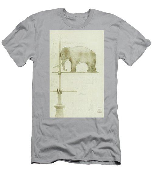 Pachyderm House, Philadelphia Zoo, Detail Of Weather Vane Men's T-Shirt (Athletic Fit)
