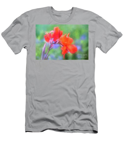 Painted Canna In The Evening Light Men's T-Shirt (Athletic Fit)
