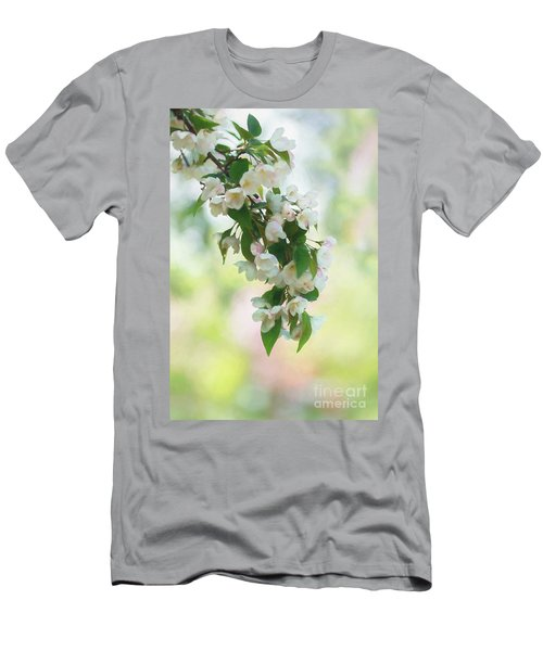 Painted Crabapple Blossom Cascade Men's T-Shirt (Athletic Fit)