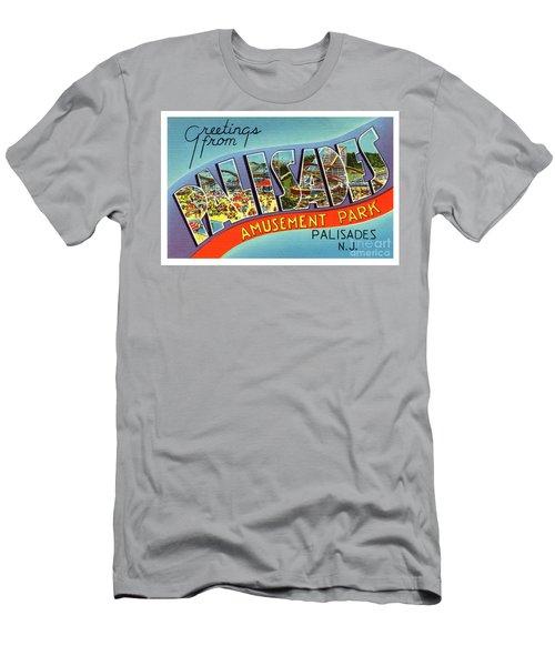 Palisades Amusement Park Greetings Men's T-Shirt (Athletic Fit)