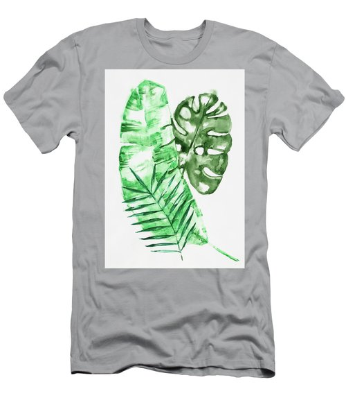 Palm Leaves-banana, Coconut, Monstera Men's T-Shirt (Athletic Fit)