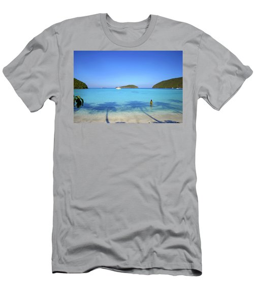 Palm Shadows On The Atlantic Men's T-Shirt (Athletic Fit)