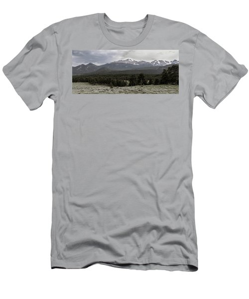 panoramic view of Rocky Mountains Men's T-Shirt (Athletic Fit)