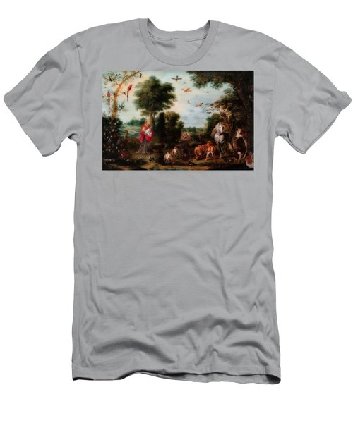 Paradise Landscape With The Creation Of The Animals Men's T-Shirt (Athletic Fit)