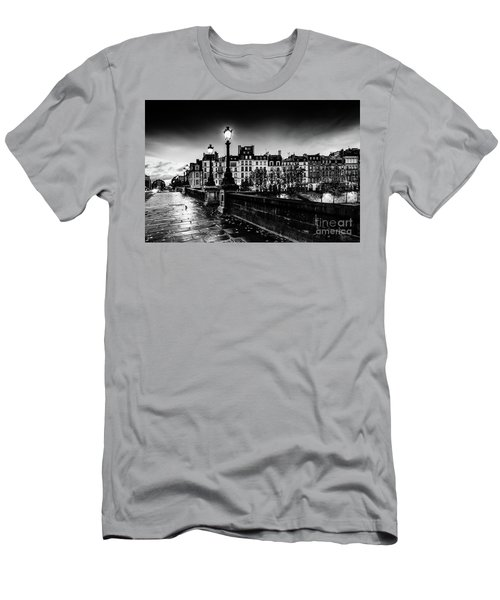 Men's T-Shirt (Athletic Fit) featuring the photograph Paris At Night - Pont Neuf by Miles Whittingham