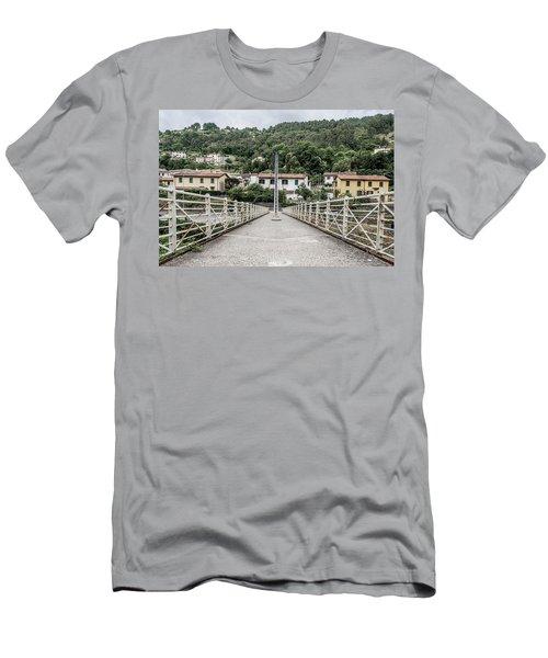 Pedestrian Walkway Men's T-Shirt (Athletic Fit)