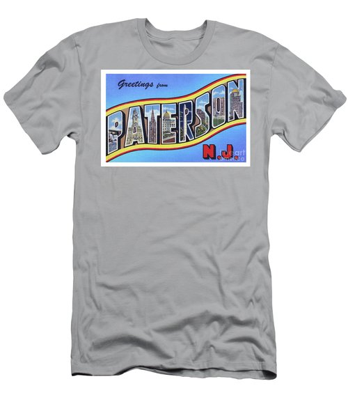 Men's T-Shirt (Athletic Fit) featuring the photograph Paterson Greetings - Version 1 by Mark Miller