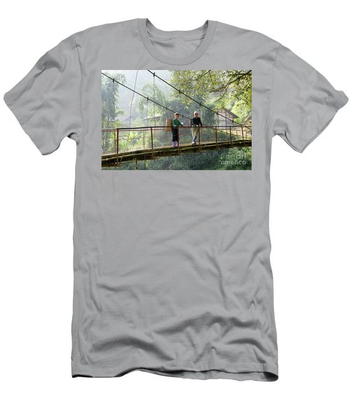 People And Children From Sapa, Mountainous Area Of Northern Vietnam In Their Daily Life. Men's T-Shirt (Athletic Fit)