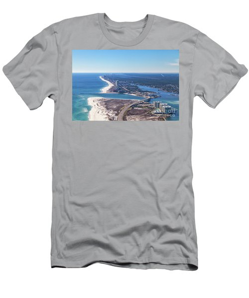 Men's T-Shirt (Athletic Fit) featuring the photograph Perdido Pass Bridge by Gulf Coast Aerials