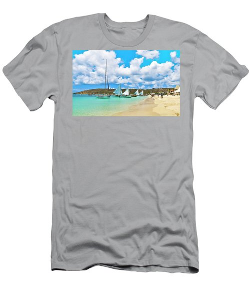 Picture Perfect Day For Sailing In Anguilla Men's T-Shirt (Athletic Fit)