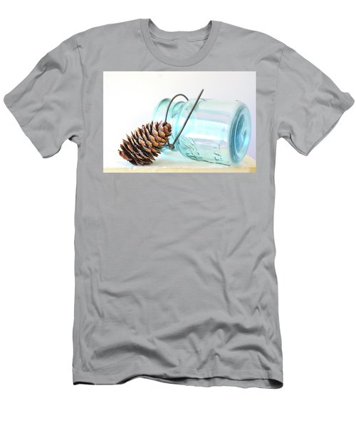 Men's T-Shirt (Athletic Fit) featuring the photograph Pine Cone And A Jar by Michelle Wermuth