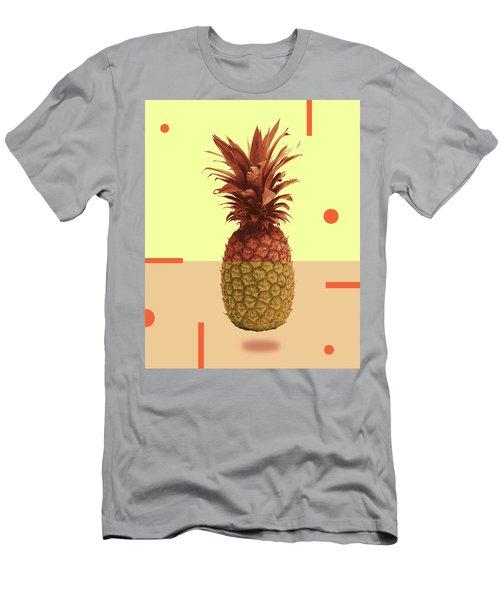 Pineapple Print - Tropical Decor - Botanical Print - Pineapple Wall Art - Beige, Peach - Minimal Men's T-Shirt (Athletic Fit)