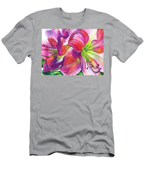 Pink Amarylis Men's T-Shirt (Athletic Fit)