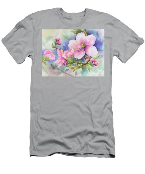 Pink Blossoms Men's T-Shirt (Athletic Fit)