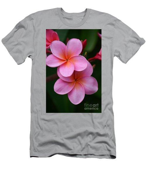 Pink Plumerias  Men's T-Shirt (Athletic Fit)