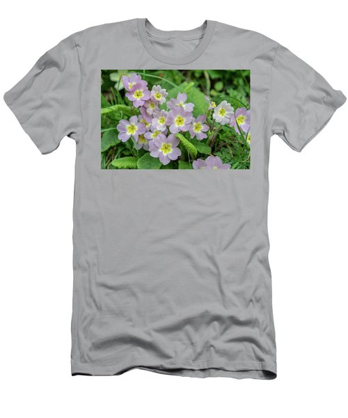 Pink Primroses In Devon Men's T-Shirt (Athletic Fit)