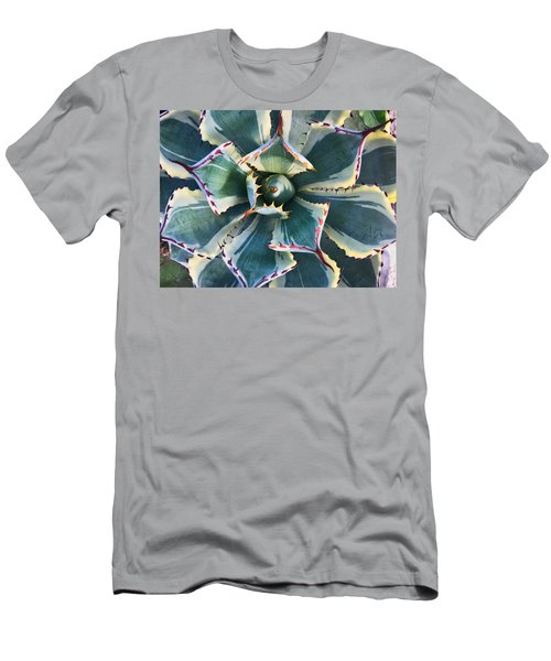Pinwheel Succulent Men's T-Shirt (Athletic Fit)