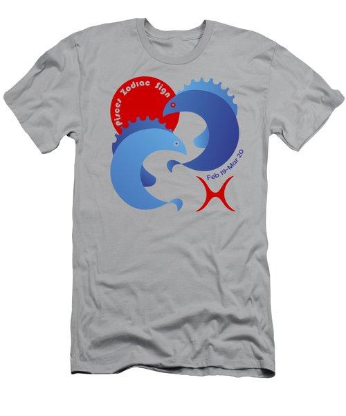 Pisces - Fishes Men's T-Shirt (Athletic Fit)
