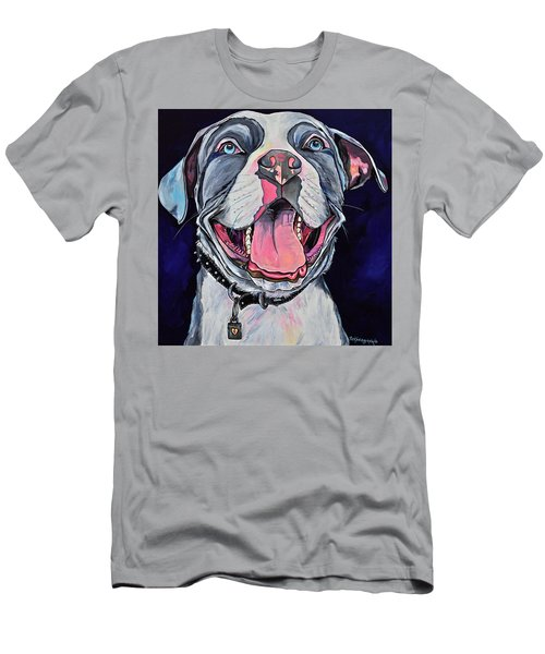 Pit Bull Love Men's T-Shirt (Athletic Fit)
