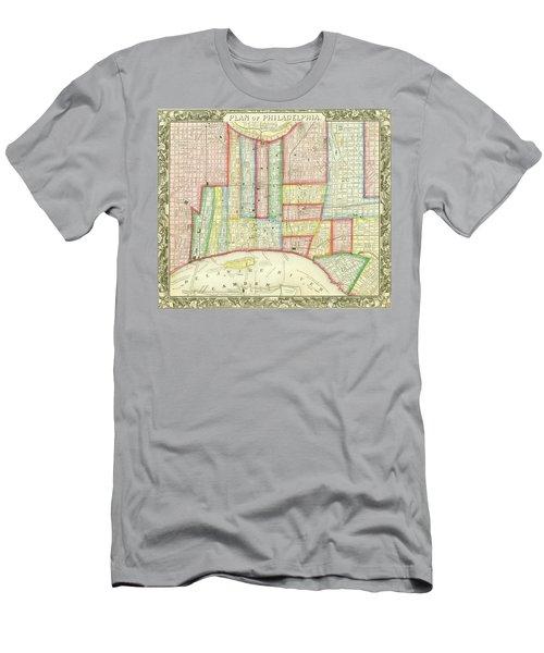 Plan Of Philadelphia, 1860 Men's T-Shirt (Athletic Fit)