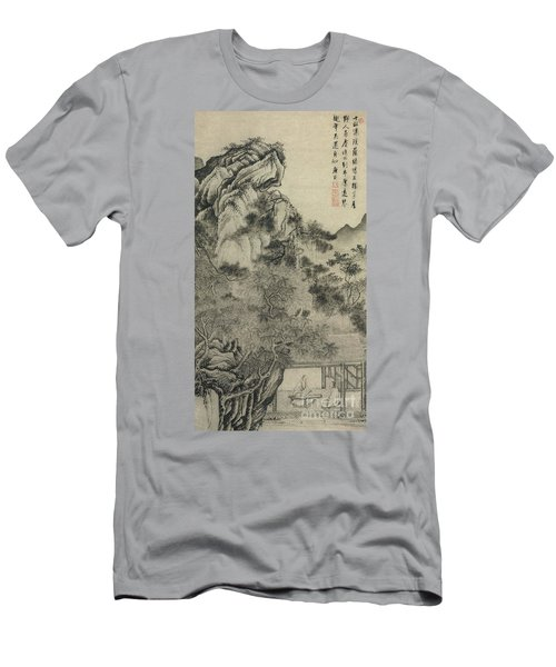 Playing The Zither Men's T-Shirt (Athletic Fit)