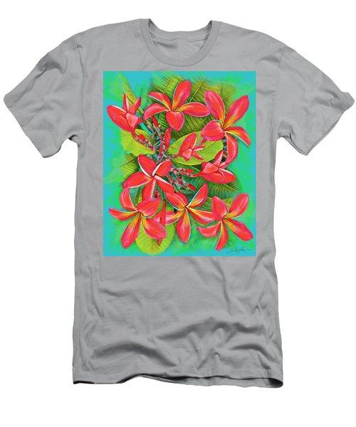 Plumeria Sunburst Men's T-Shirt (Athletic Fit)