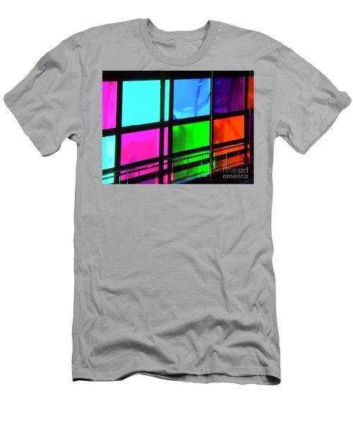 Polychrome Passageway Men's T-Shirt (Athletic Fit)