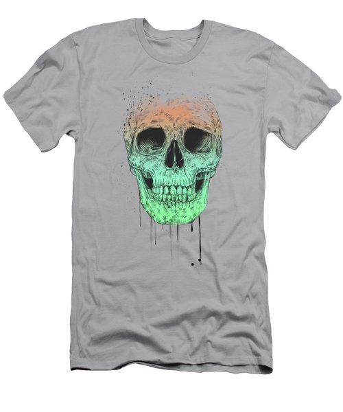 Pop Art Skull Men's T-Shirt (Athletic Fit)